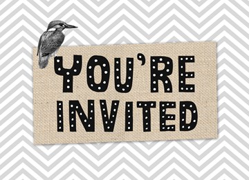 - bordje-you-are-invited-met-vogel