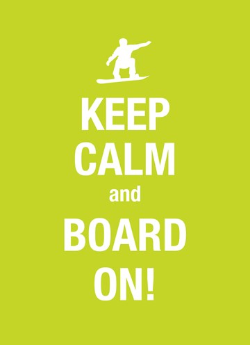 Winterkaart - keep-calm-and-board-on