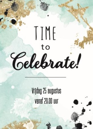Uitnodiging maken - watercolor-celebrate