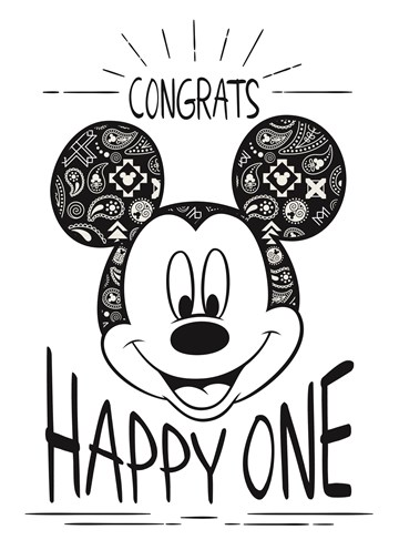 Felicitatiekaart - disney-adult-congrats-happy-one