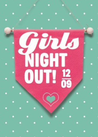 Uitnodiging maken - girls-night-out