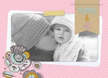 - fotokaart-roze-kader-baby-meisje