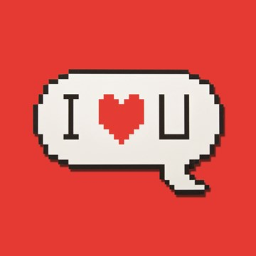 - pixels-i-love-you