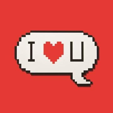 - pixels-i-love-you