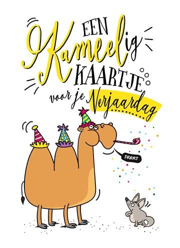 verjaardagskaart vrouw - verjaardagskaart-een-kameelig-kaartje