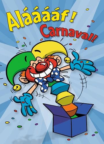 carnavalskaarten - carnavalskaart-alaaaf-clown-uit-box
