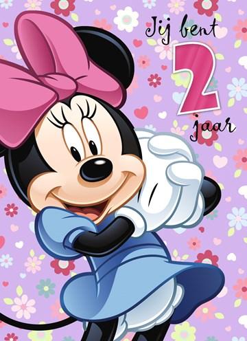 Verjaardagskaarten leeftijd - twee-jaar-met-minnie-mouse