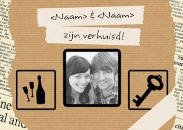 Uitnodiging maken - fotokaart-wij-zijn-verhuisd-karton