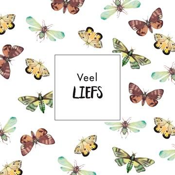 wenskaarten - kaart-veel-liefs-met-bruine-vlinders