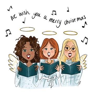 - Kerstkaart-zingende-engelen
