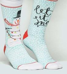 Kerst sokken Sneeuwpop