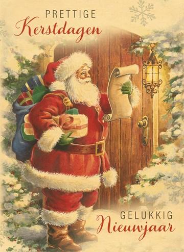 - Hallmark-houten-kerstkaart-de-kerstman-kijkt-op-zijn-lijstje