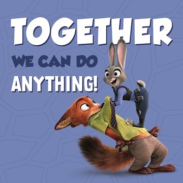 Disney kaart - disney-zootropolis-together-we-can-do-anything