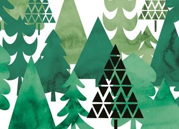 Kerstkaart - forest-full-of-trees