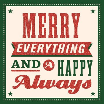 Kerstkaart - xmas-classics-merry-everything-and-a-happy-always