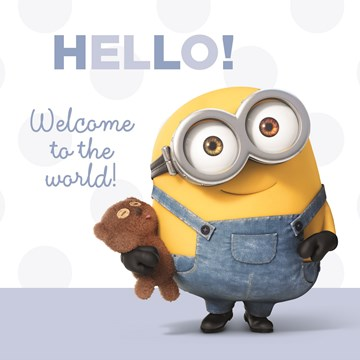 - hello-welcome-to-the-word-minion-kaart-zoon