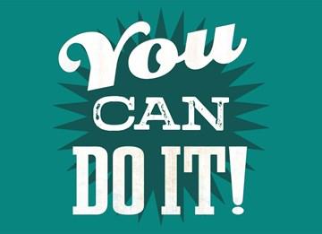 Succes / Goed gedaan kaart - you-can-do-it-groen-