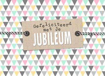 Werken / Pensioen kaart - label-jubileum-pastel-vlaggen