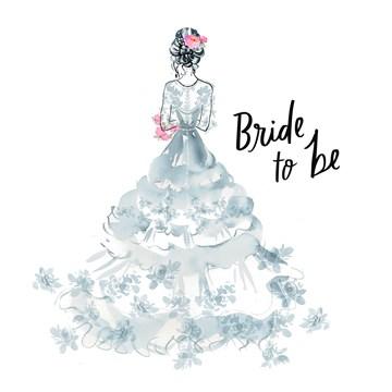 Huwelijkskaart - bride-to-be