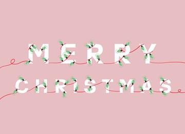 Kerstkaart - hallmark-kerstkaart-met-lampjes