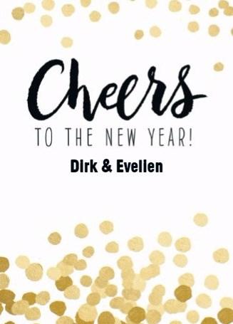 Nieuwjaarskaart - nieuwjaar-cheers-to