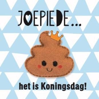 Koningsdag kaart - kingsday-joepiede-poepie