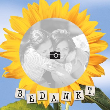 - fotokaart-bedankt-met-zonnebloem-