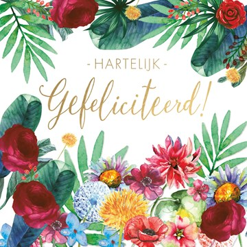 Felicitatiekaart - jungle-gefeliciteerd