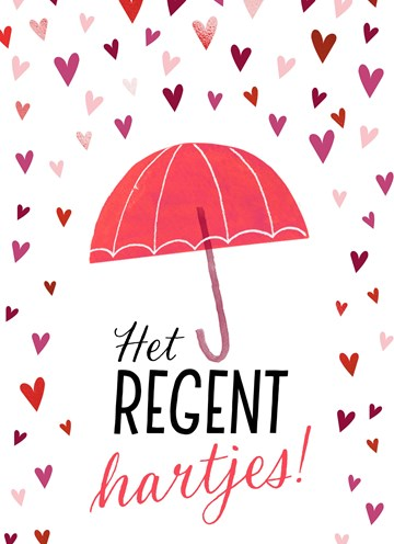 valentijnskaart - valentijn-het-regent-hartjes