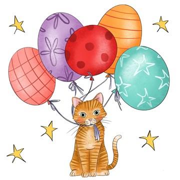 - Verjaardagskaart-Ballonnen-kat-Matia-Studio