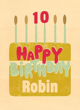 Verjaardagskaart tienerjongens - houten-kaart-taart-happy-birthday
