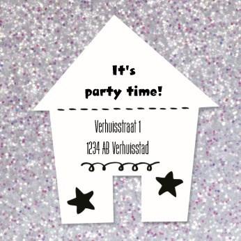 Uitnodiging maken - party-time-huis-