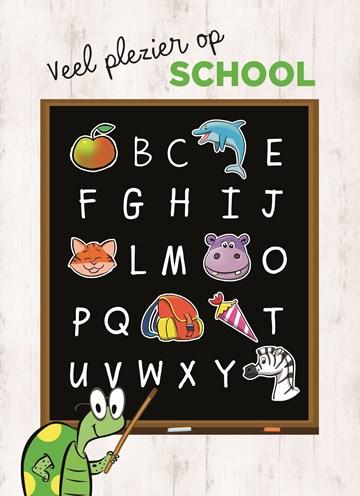 Back to School kaart - back-to-school-schoolbord-plezier-op-school
