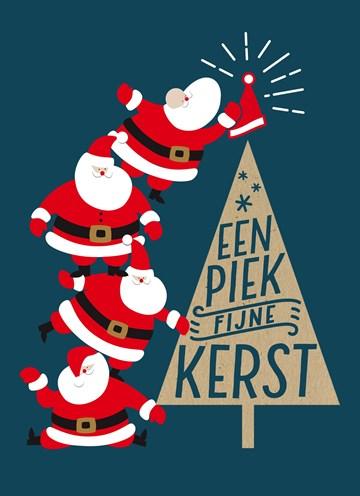 Kerstkaart - een-piekfijne-kerst