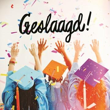Geslaagd / Diploma kaart - examen-geslaagd-hoedjes