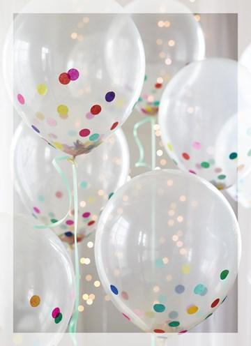 Zakelijke verjaardagskaart - Ballonnen-met-confetti