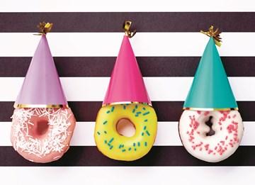 Verjaardagskaart vrouw - donut-kabouters