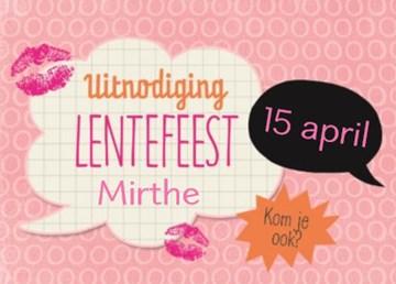 Uitnodiging maken - uitnodiging-lentefeest-roze