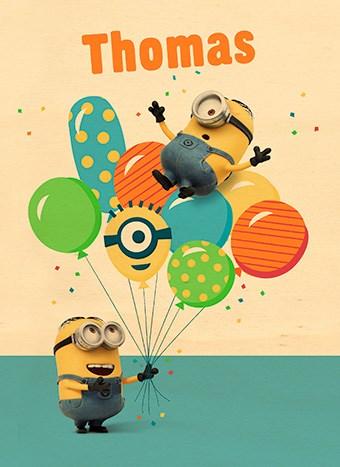 - verjaardagskaart-minions-met-ballonnen