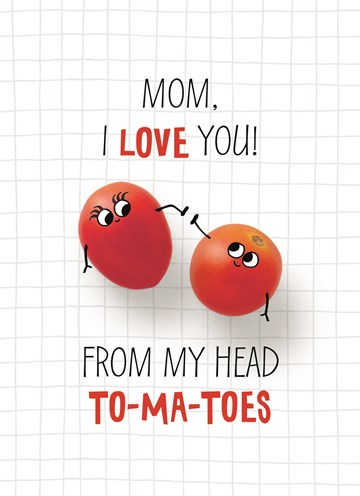Moederdag kaart - schattige-moederdag-kaart-mom-i-love-you-from-my-head-to-ma-toes