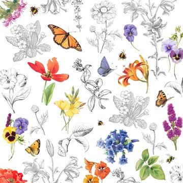 - Kaart-flowers-by-Marjolein-Bastin-Blanco-bloemen-en-vlinders