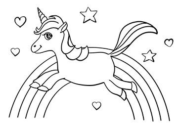 - Kleurplaat-kaart-kind-Unicorn-eenhoorn-Corona-ziek-thuis-virus-griep
