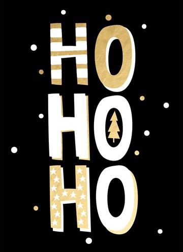 Kerstkaart - ho-ho-ho-its-xmas