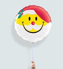 Ballon smiley kerstman