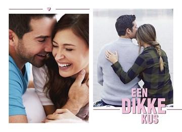 valentijnskaart - een-dikke-kus-fotokaart