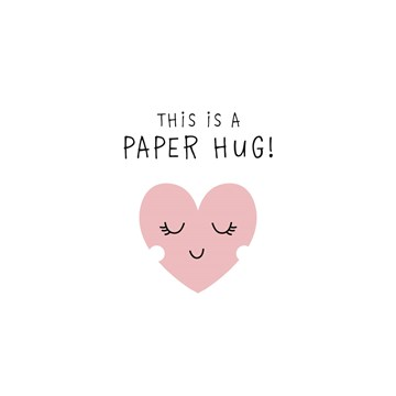 Moederdag kaart - sterkte-this-is-a-paper-hug