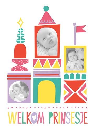 - kasteel-prinses-geboorte-kaart