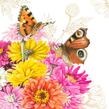 - Kaart-flowers-by-Marjolein-Bastin-vlinders-roze-geel