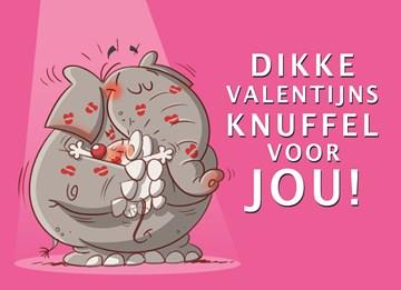 Valentijnskaart - valentijnkaart-dikke-valentijnsknuffel-voor-jou
