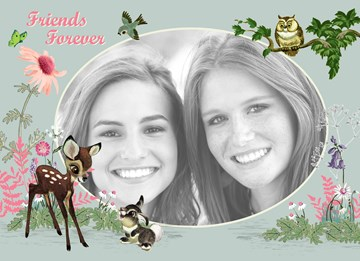 Disney kaart - fotokaart-disney-bambi-friends-forever